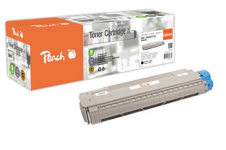 Peach  Toner Module noire, compatible avec ID-Fabricant: 43487712 OKI C 8600 N