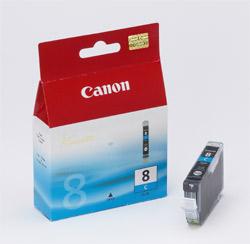 Original Cartouche d'encre cyan originale ID-Fabricant: CLI-8c, 0621B001 Canon Pixma IX 5000