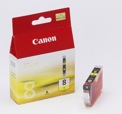 Original Cartouche d'encre jaune originale ID-Fabricant: CLI-8y, 0623B001 Canon Pixma IX 5000