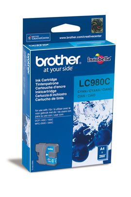 Original Cartouche d'encre cyan originale ID-Fabricant: LC-980 c Brother DCP-163 C