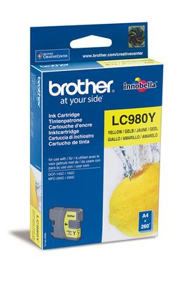 Original Cartouche d'encre jaune originale ID-Fabricant: LC-980 y Brother DCP-163 C