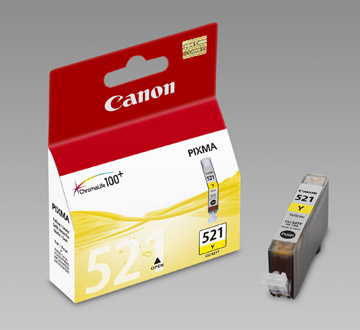 Original Cartouche d'encre jaune originale ID-Fabricant: CLI-521y, 2936B001 Canon Pixma MP 620