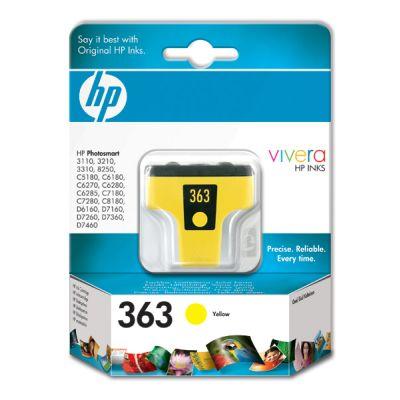 Original Cartouche d'encre jaune originale ID-Fabricant: No. 363, C8773EE HP PhotoSmart C 6288