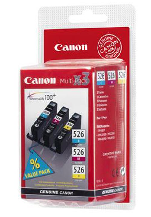 Original Multipack d'encre originale couleur, ID-Fabricant: CLI-526PA Canon Pixma MG 5150