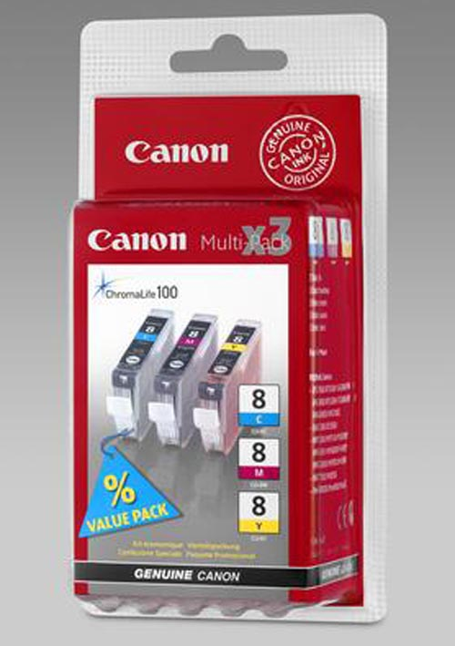 Original Multipack d'encre originale couleur, ID-Fabricant: CLI-8CMY Canon Pixma IX 5000