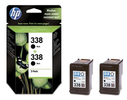 Original 2 cartouches d'encre noires originales ID-Fabricant: No. 338, CB331EE HP PhotoSmart C 3150
