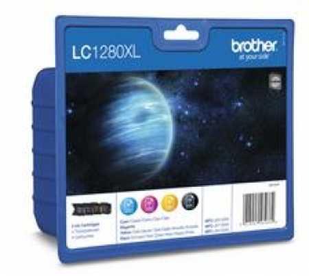 Original Encre originale paquet valeur HY, noir, couleur ID-Fabricant: LC-1280VA Brother MFCJ 6510 DW