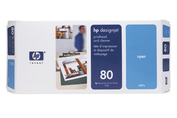 Original Tête d'impression originale cyan + nettoyeur HP DesignJet 1050 C Plus