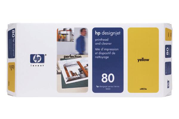 Original Tête d'impression originale jaune + nettoyeur HP DesignJet 1050 C Plus