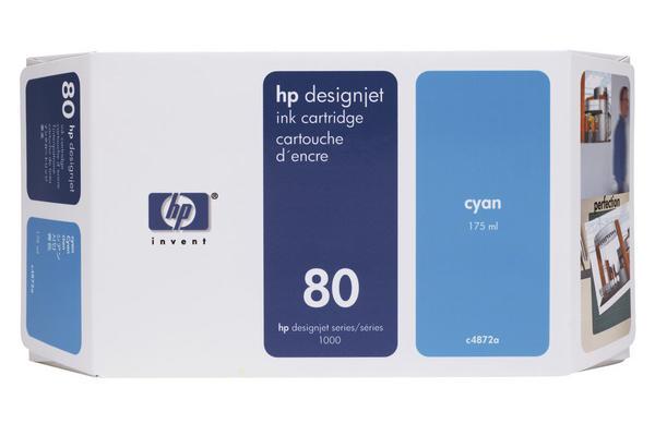 Original Cartouche d'encre cyan originale HP DesignJet 1050 C Plus