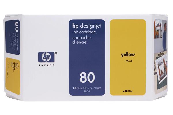Original Cartouche d'encre jaune originale HP DesignJet 1050 C Plus