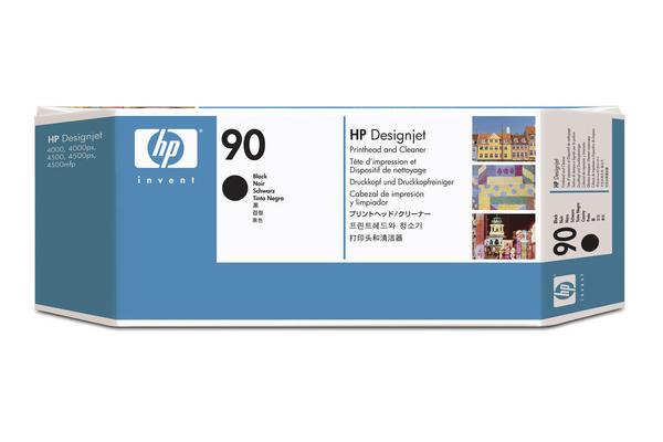 Original Tête d'impression originale noire + nettoyeur HP DesignJet 4500 Series