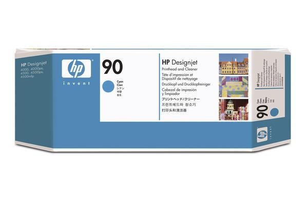 Original Tête d'impression originale cyan + nettoyeur HP DesignJet 4500 MFP