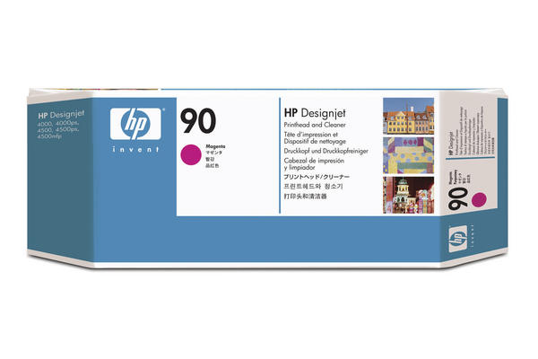 Original Tête d'impression originale magenta + nettoyeur HP DesignJet 4520 Series