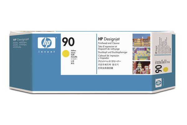 Original Tête d'impression originale jaune + nettoyeur HP DesignJet 4500 Series