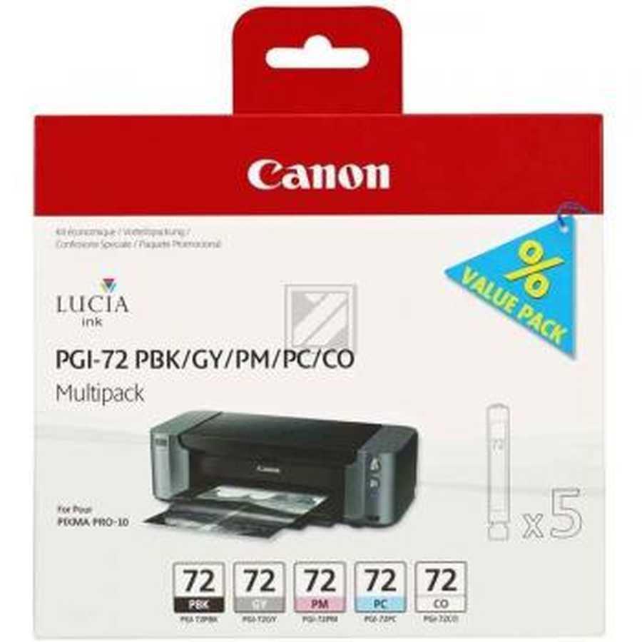 Original Cartouches d'encre Multipack originale PBK/GY/PM/PC/CO Canon Pixma Pro 10 S