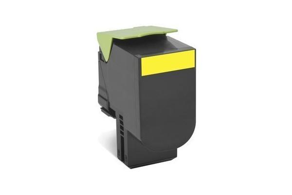 Original Cartouche de toner jaune originale ID-Fabricant: 80C20Y0 Lexmark CX 410 dte