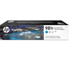Original Cartouche d'encre cyan originale ID-Fabricant: No. 981Y, L0R13A HP PageWide Enterprise Color Flow MFP 586 dn