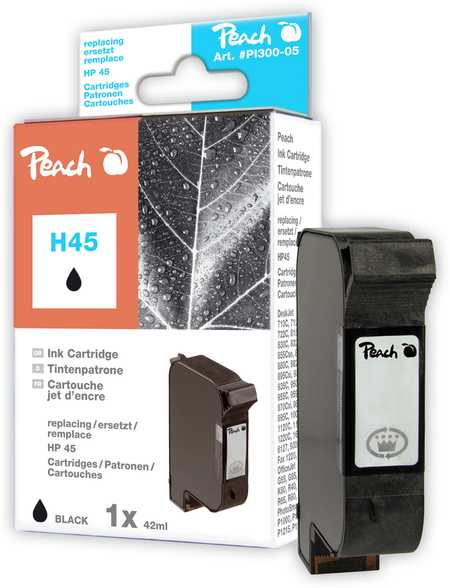 Peach Tête d'impression  noire, compatible avec ID-Fabricant: No. 45, 51645A HP DesignJet 755 CM