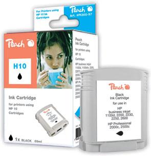 Peach Cartouche d'encre  noir, compatible avec ID-Fabricant: Nr. 10, C4844A HP DesignJet 100 Plus