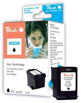 Peach Tête d'impression  noire, compatible avec ID-Fabricant: No. 338, C8765E HP DeskJet 5740