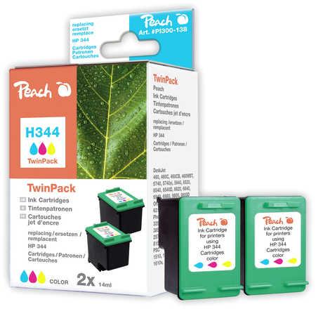 Peach  Twin Pack cartouche d'encre coleur, compatible avec ID-Fabricant: No. 344, C9363E HP DeskJet 5740