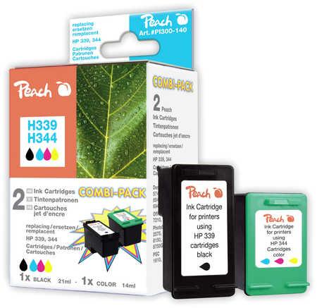 Peach  Multi Pack, compatible avec ID-Fabricant: No. 339, C8767E, No. 344, C9363E HP DeskJet 5740