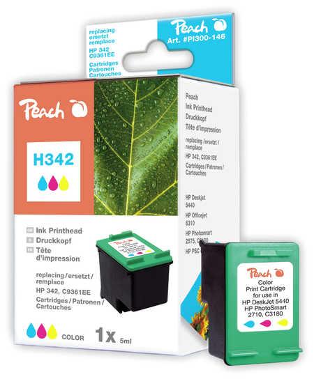 Peach Tête d'impression  couleur, compatible avec ID-Fabricant: No. 342, C9361E HP PhotoSmart C 3150