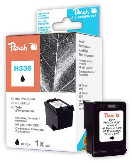 Peach Tête d'impression  noire, compatible avec ID-Fabricant: No. 336, C9362E HP PhotoSmart C 3194