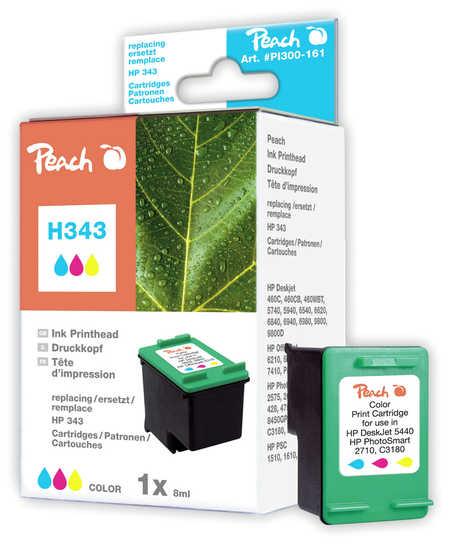 Peach Tête d'impression  couleur, compatible avec ID-Fabricant: No. 343, C8766EE HP DeskJet 5740