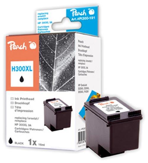 Peach  tête d'impression noire, compatible avec ID-Fabricant: No. 300XL, CC641EE HP PhotoSmart C 4788