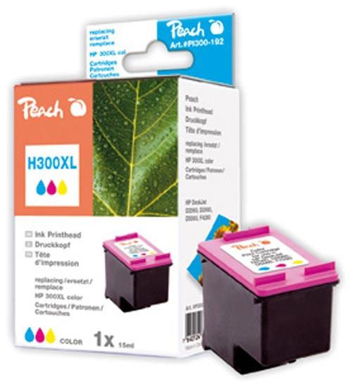 Peach  tête d'impression couleur, compatible ID-Fabricant: No. 300XL, CC644EE HP PhotoSmart C 4788