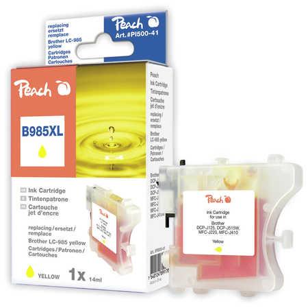 Peach Cartouche d'encre  jaune, compatible avec ID-Fabricant: LC-985y Brother DCPJ 125
