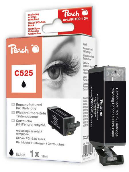 Peach Cartouche d'encre  noir, compatible avec ID-Fabricant: PGI-525 Canon Pixma MG 5150