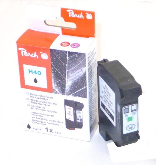 Peach Tête d'impression  noire, compatible avec ID-Fabricant: No. 40, 51640AE HP DesignJet 450 C