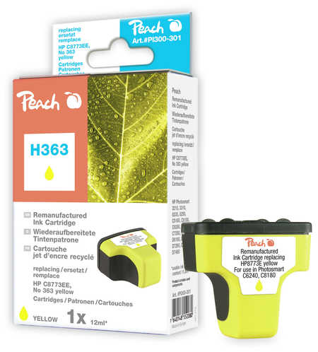 Peach  cartouche d'encre jaune compatible avec ID-Fabricant: No. 363, C8773EE HP PhotoSmart C 6288