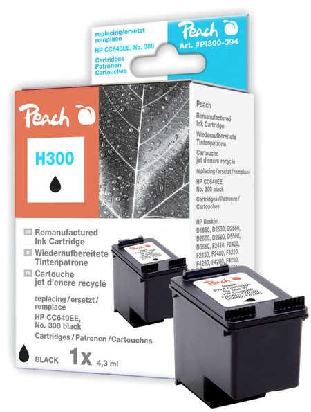 Peach Tête d'impression  noire, compatible avec ID-Fabricant: No. 300, CC640EE HP PhotoSmart C 4788