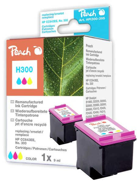 Peach Tête d'impression  couleur, compatible avec ID-Fabricant: No. 300, CC643EE HP PhotoSmart C 4788