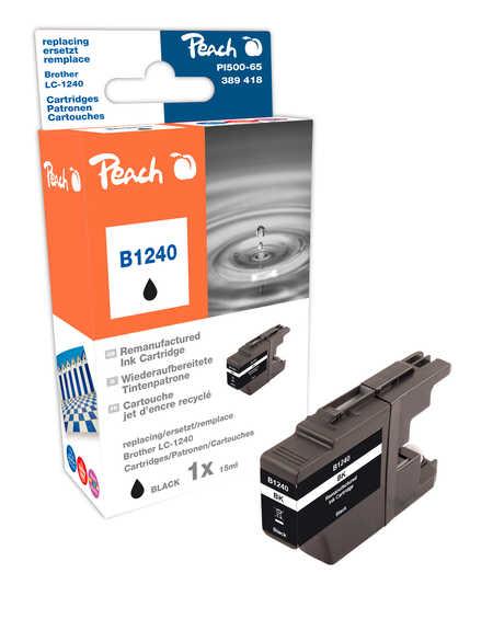 Peach Cartouche d'encre  noir, compatible avec ID-Fabricant: LC-1240 bk Brother MFCJ 6510 DW