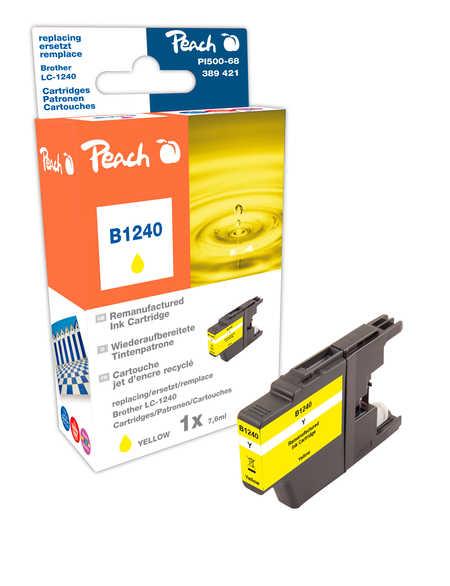 Peach Cartouche d'encre  jaune, compatible avec ID-Fabricant: LC-1240 y Brother MFCJ 6510 DW