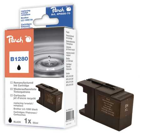 Peach  XL cartouche noire, compatible avec ID-Fabricant: LC-1280, LC-1280 bk Brother MFCJ 6510 DW