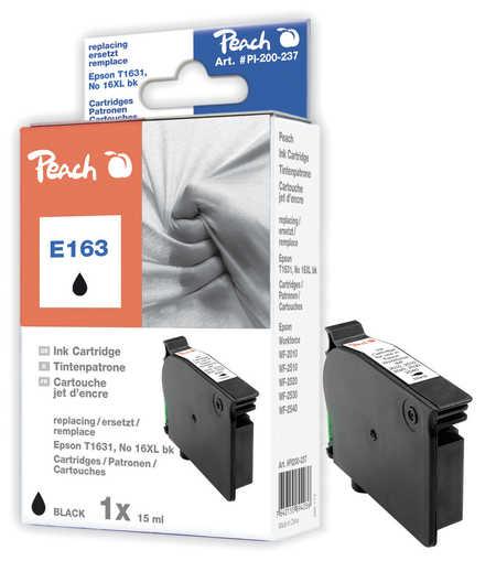 Peach Cartouche d'encre  noir, compatible avec ID-Fabricant: No. 16XL bk, T1631 Epson WorkForce WF-2530 WF