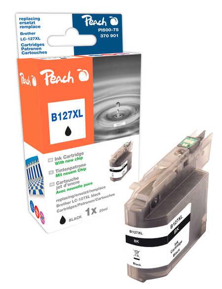 Peach Cartouche d'encre  noir XL, compatible avec ID-Fabricant: LC-127XL Brother MFCJ 4310 DW