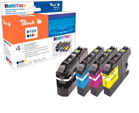 Peach Multipack , compatible avec ID-Fabricant: LC-123 Brother MFCJ 4310 DW