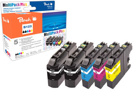 Peach Multipack Plus  compatible avec ID-Fabricant: LC-123 Brother MFCJ 4310 DW