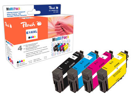 Peach  Multi Pack, compatible avec ID-Fabricant: T1636, T163 Epson WorkForce WF-2530 WF
