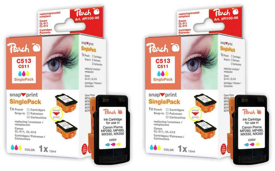 Peach  Twin cartouche d'encre jaune, compatible avec ID-Fabricant: BJI-201 y Apple Color Stylewriter PRO